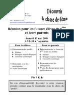 Réunion Futures 6èmes