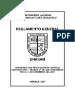 Reglamento General de La UNASAM 2007