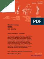 Foro del Tejedor Programacion Mayo 7 -11 / 2014