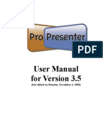 Pro Presenter 3 Manual