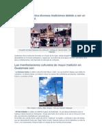 Guatemala Practica Diversas Tradiciones Debido a Ser Un Pais Multicultural