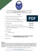LMU Board Meeting May 08, 2014 Agenda Packet