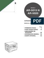 Manual Sharp Fotocopiadora