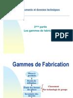 GAMME DE PRODUCTION