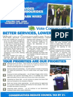 Brunswick Park Conservatives in Touch Leaflet May 2014