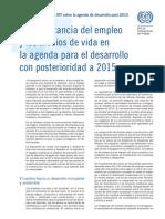 Empleo -Tranbajo -Desarrollo Despues Del 2015