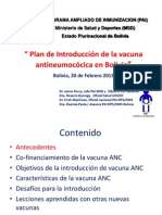 Plan de Introduccion Vacuna ANC BOL