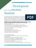 career development for elementary