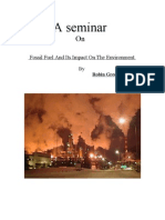 Fossil Fuel and Its Impact on the Environment.