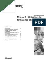 Module 2 Utilisation de Formulaires Et de Contrôles