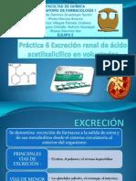 Práctica 6 Excresión Renal de Ácido Acetilsalicílico en Voluntarios Equipo 5