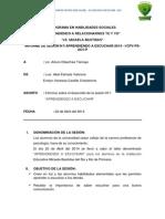 Informe de Sesiones