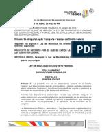 Ley Movilidad DF