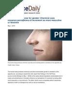 Humans Have a Nose for Gender