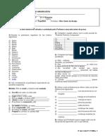 Lista 8º Ano P1 3º BIM.2013 - Participio, Pret. Composto, Recados e Cartões de Amor