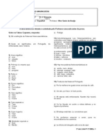 Lista 9º Ano P2 3º BIM.2013 - Café, Heterossemanticos, Pres. Subjuntivo, Consumo Responsável