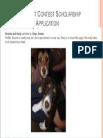 cutest pet contest scholarship application