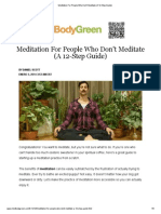 Meditation for People Who Don't Meditate (a 12-Step Guide)