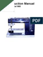 Viking Prisma 980 Sewing Machine Manual