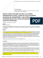 Sobre a Dupla Valoração Do Dolo No Conceito Estratificado de Crime, A Partir Da Nova Concepção Complexa de Culpabilidade, e Seu Reflexo Na Compreensão Do Erro Sobre Pressuposto de Fato de Causa de Just