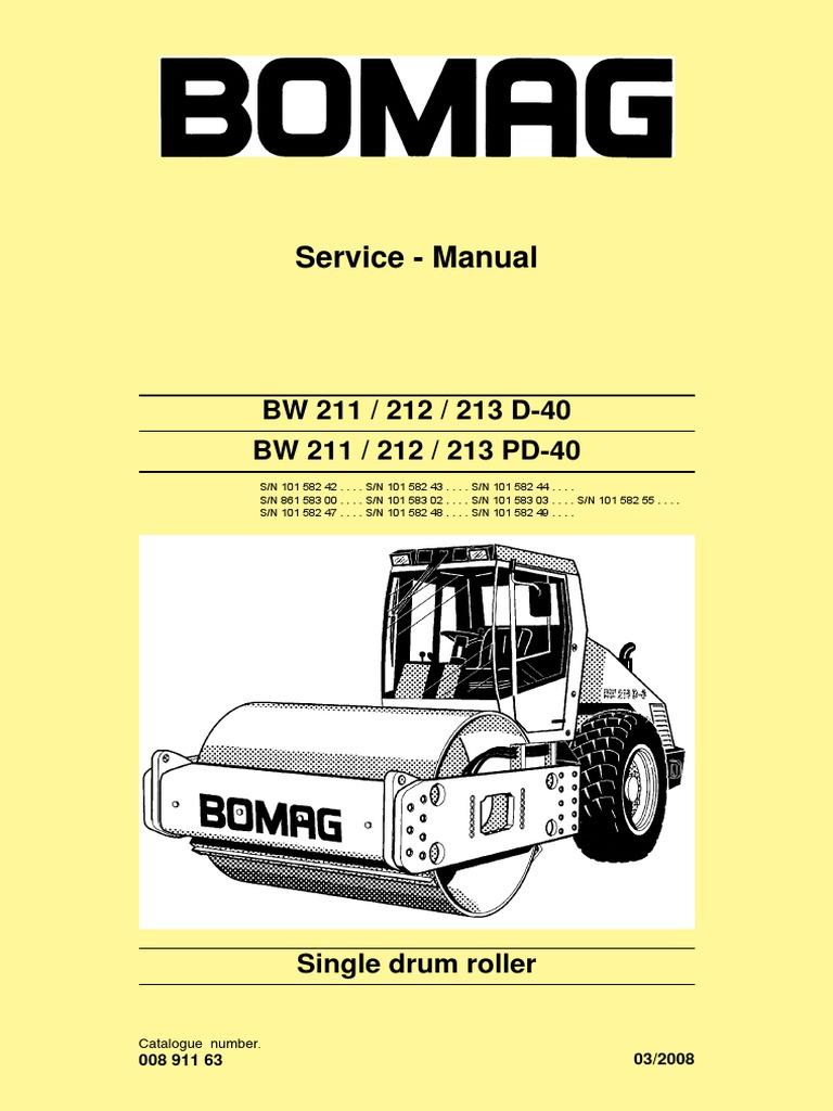 bw211 212 213d 40 service manual e 00891163 c08 pdf electrical rh scribd com bomag 120 wiring diagram bomag 120 wiring diagram