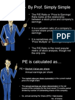 P/E Ratio – by Prof. Simply Simple