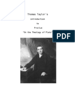 Thomas Taylor's intro to Proclus on the Theology of Plato