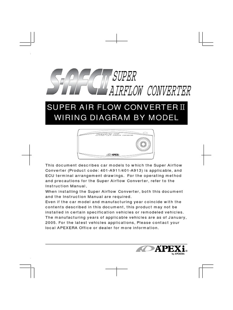 Apexi Installtion Instruction Manual Safc  Super Air Flow - Wiring diagram honda l15a