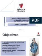 "Obesity Hypoventilation Syndrome ""OHS"""