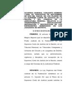 Acuerdo1-2009 de La Suprema Corte de Justicia de La n.