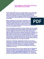 Resumen Técnico Sobre Las Características de Un Cable Usb de Alta Calidad