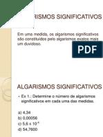 ALGARISMOS SIGNIFICATIVOS