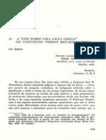 Leo Spitzer Analise Ode Sobre Uma Urna Grega