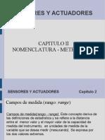Sensores y Actuadoresnomenclatura - Metrologia