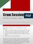cram session congress
