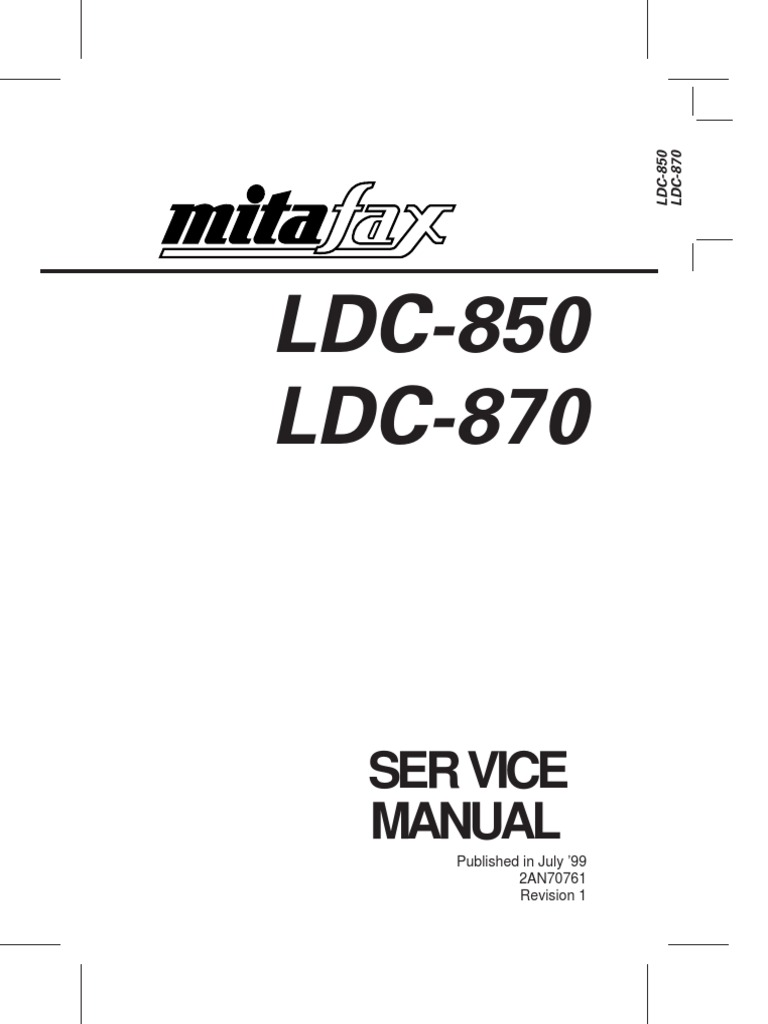 LDC-850 LDC-870: Ser Vice Manual