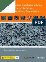 Uso de Aridos Reciclados (Hidrocalumita)