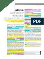 Texte - Nperrin 2013 - Créativité Il Est Autorisé d'Interdire