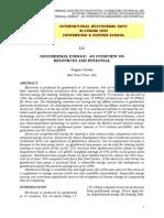 World Geothermal - I.1.Bertani