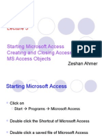 7235621 Lecture 5 Staring MS Access Access Objects