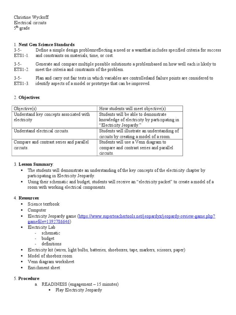 Shoeboxroom Series And Parallel Circuits Electrical Seriesparallel Circuit Diagram Worksheet