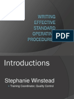 writing effective sops