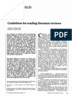 1988 Guidelines for Reading Literature Rev