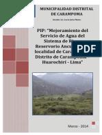 PIP Reservorio - Ancush