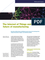 Internet of Things and Future of Manufacturing