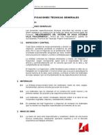 Especificaciones Tecnicas Agua Paucarmarca
