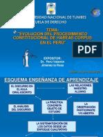 Evolucion Del Procedimiento Constitucional de Habeas Corpus en El Peru