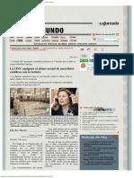 La Jornada_ La ONU Equipara El Abuso Sexual de Sacerdotes Católicos Con La Tortu