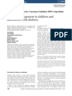 Sick Day Management in Children And adolescents with diabetes 2009