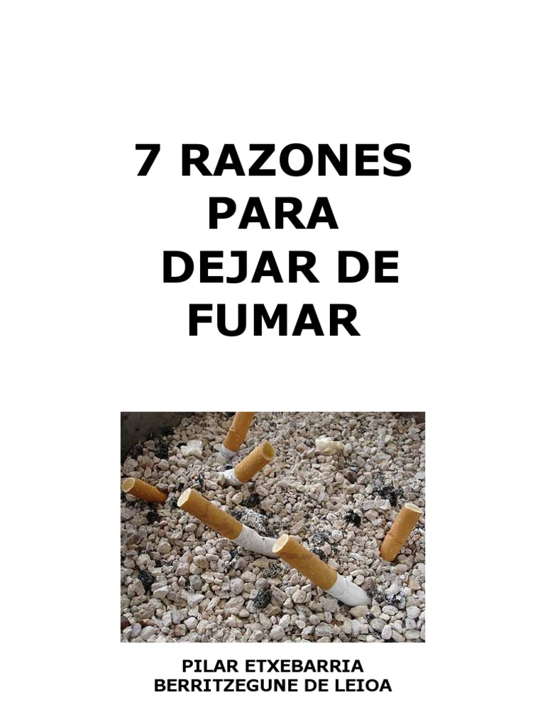 El calendario para a dejar fumar